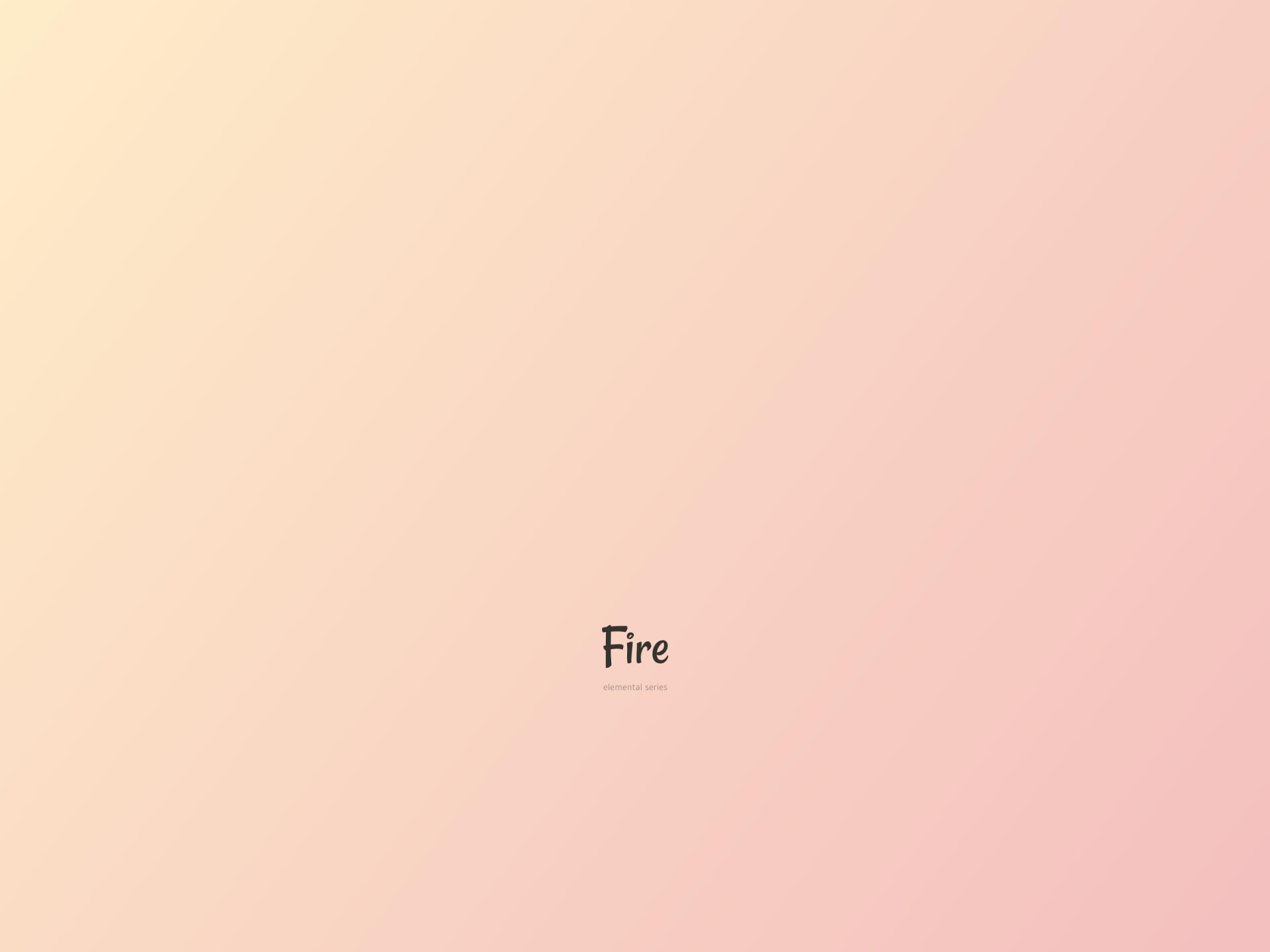 De vier elementen. Vuur design