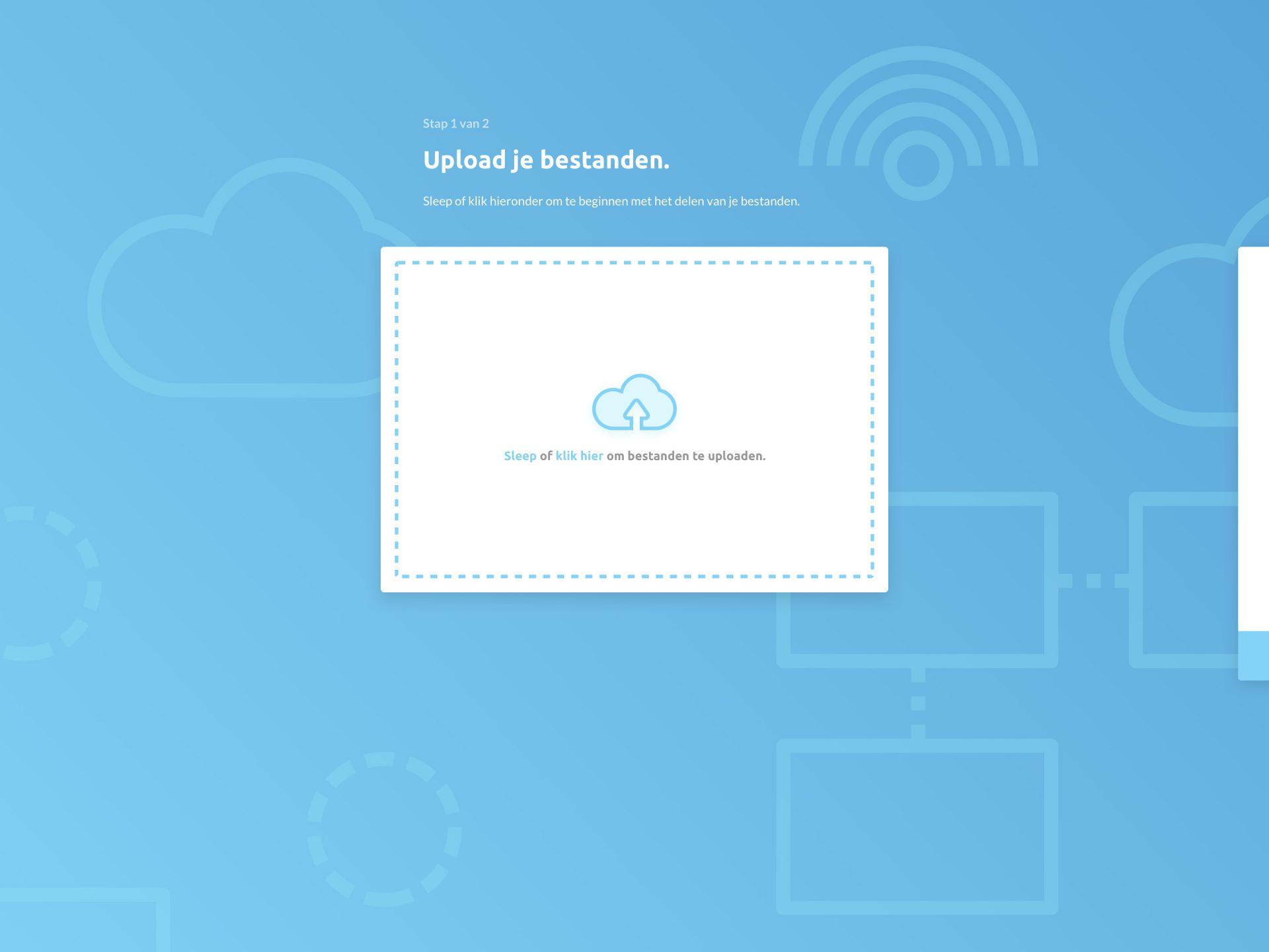 File Transfer UI - Upload je bestanden