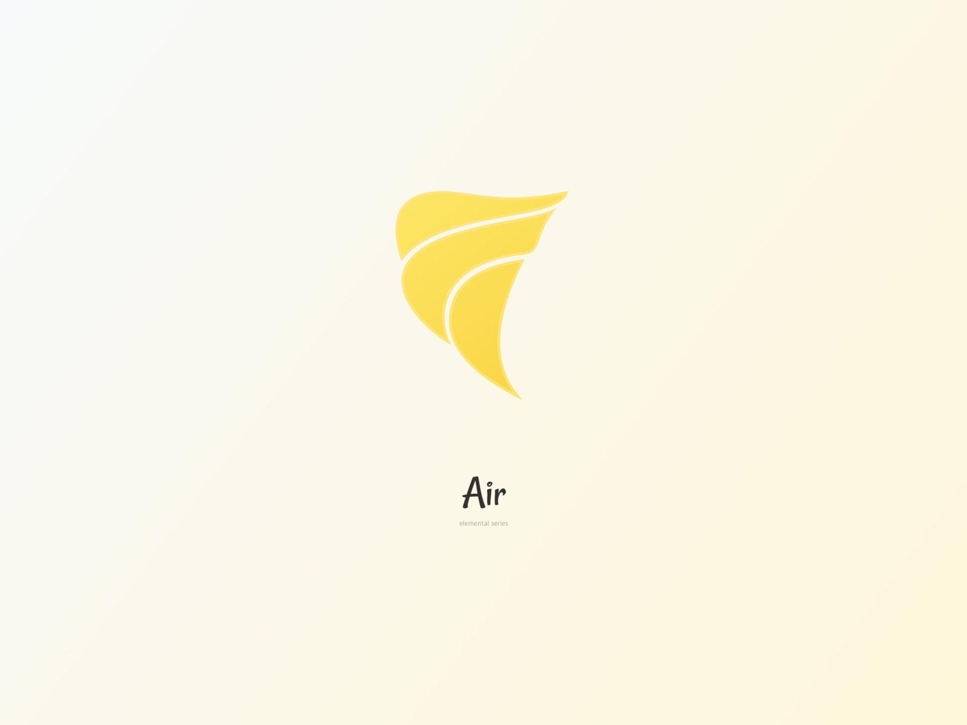 De vier elementen. Lucht design
