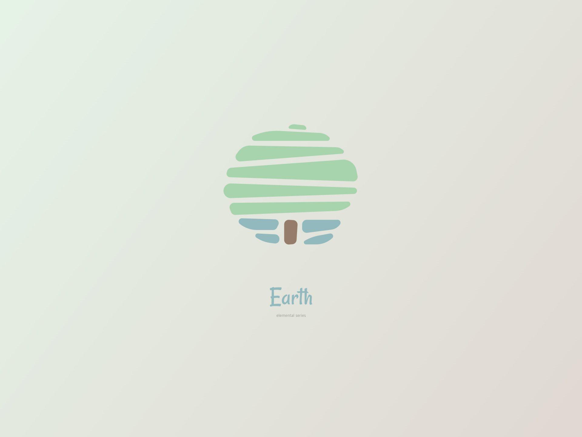 De vier elementen. Aarde design