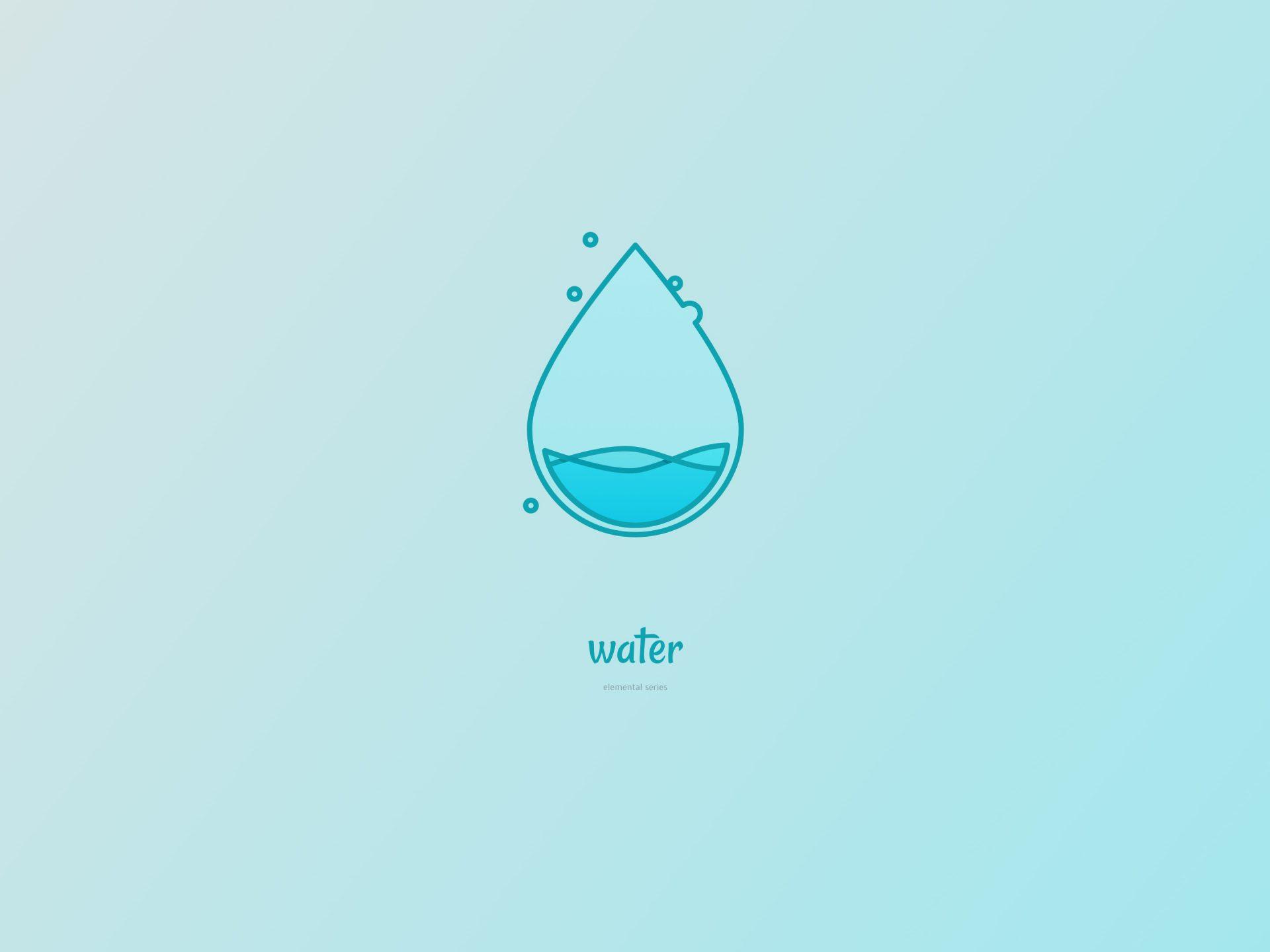 De vier elementen. Water design