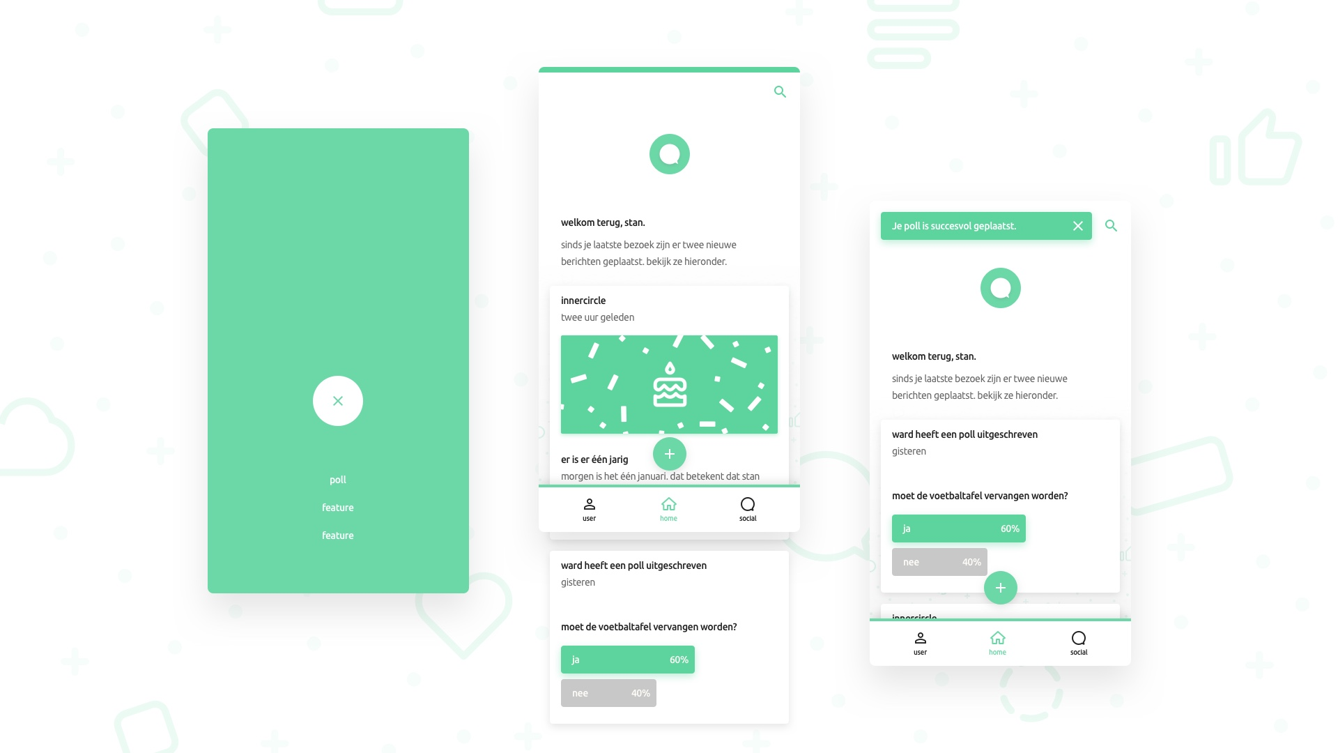 Inner Circle Mobile UI