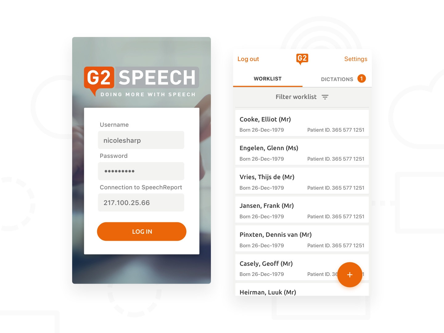 G2 Speech UI